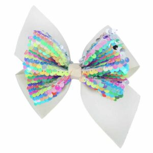 10 Pieces Girl's Hair Clips Sweet Cute Bow Sequins Simple Hair Accessories