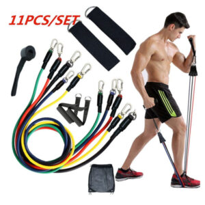 11 Pieces Resistance Fitness Band Set With Stackable Exercise