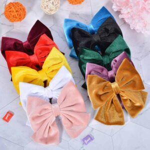 5 Pieces Girls Hair Accessories Cute Sweet Style Solid Color Bowknot Hair Clips