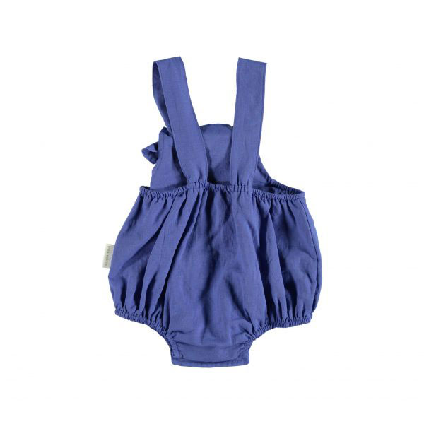 Baby Romper with Knots – Blue