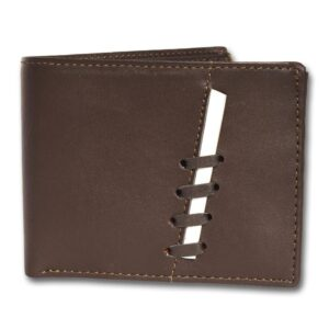 Brown leather Wallets Two-Fold for Men