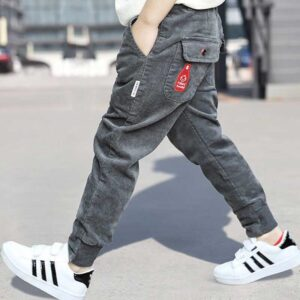 Teen Boy's Casual Pants Loose Comfy All-Match Trousers