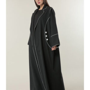 Black Abaya with Buttons