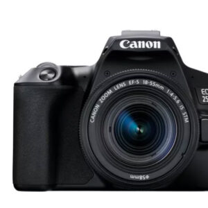 Canon EOS 250D, Lens Black + Backpack + SD Card + Spare Battery