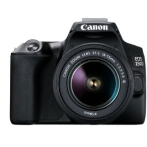Canon DSLR Camera with Lens, Black