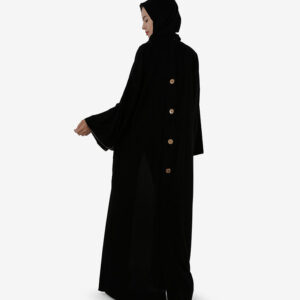 Front And Back Button Placket Abaya