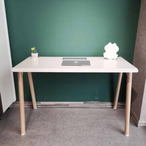 Single Office Table, White