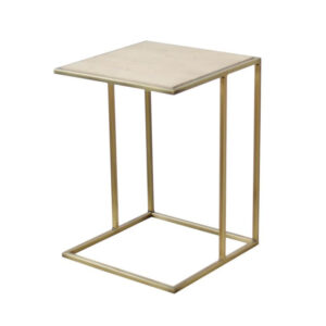 Side Table with Gold Frame