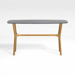 Elke Black Marble Console Table